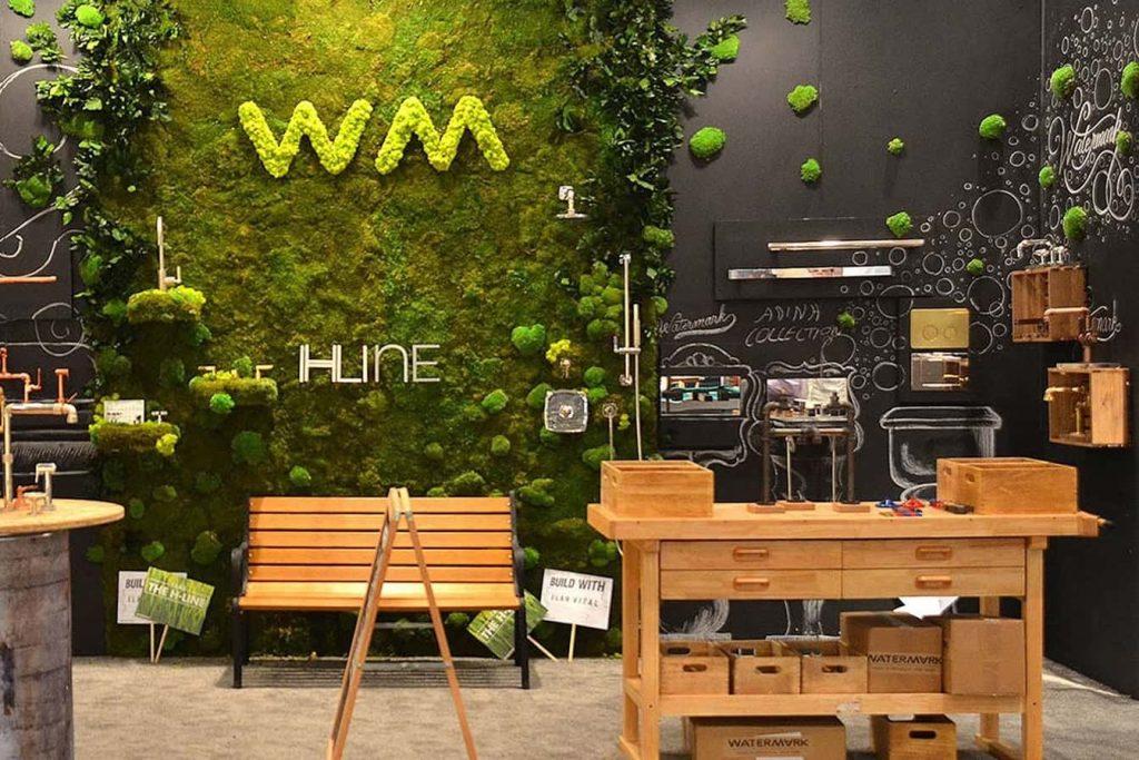 pared decorativa musgo verde natural